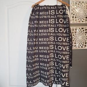 'All You Need is LOVE' Throw